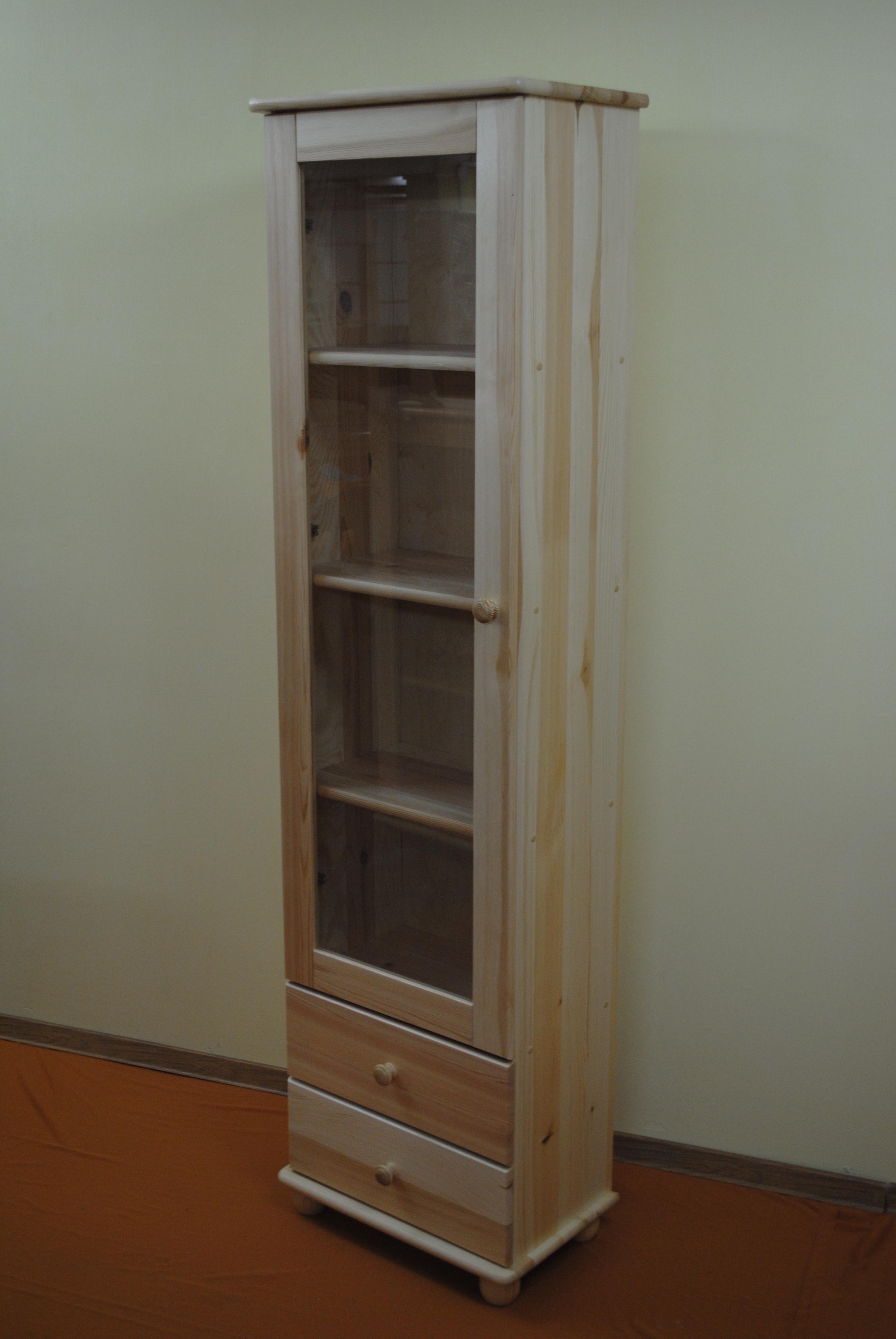Witryna wąska z szufladami